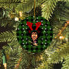 Jimi Hendrix Merry Christmas Circle Ornament