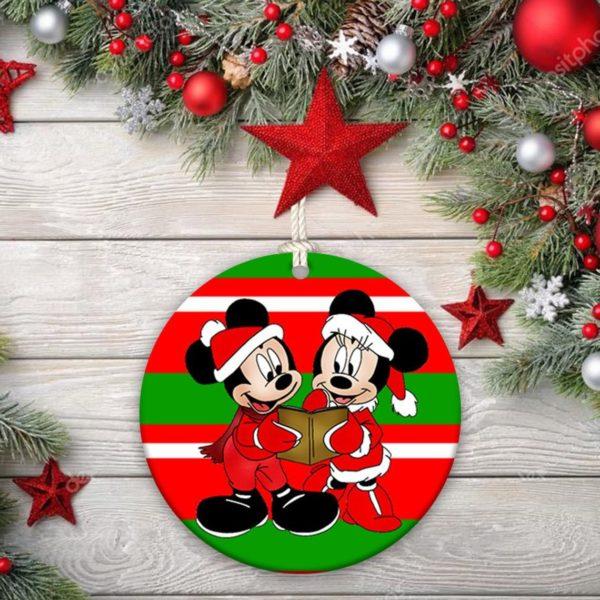 Disney Minnie Mickey Mouse Christmas Decorative Ornament