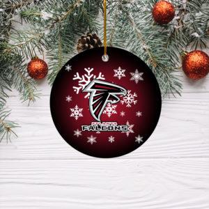 Atlanta Falcons Merry Christmas Circle Ornament