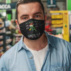Fa La La La Godzilla Face Mask