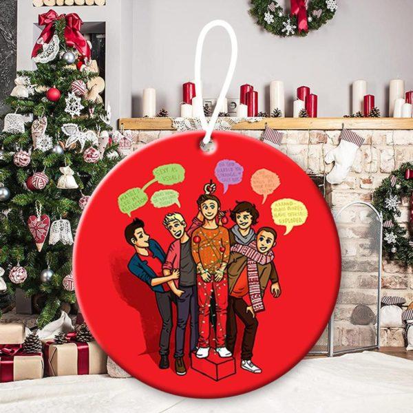 One Direction 4, Niall Horan, Liam Payne, Harry Styles, Louis Tomlinson, Zayn Malik, 1D, pop band, Up All Night Christmas Decorative Ornament