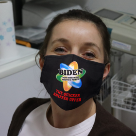 The Quicker Sniffer Upper Funny Joe Biden Sniffing Trump Is My President Face Mask