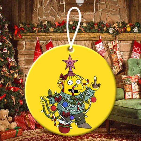 Homer Simpson Abraham Simpson Christmas Ornaments Funny Holiday Gift
