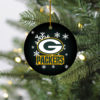 Green Bay Packers Christmas Merry Christmas Circle Ornament