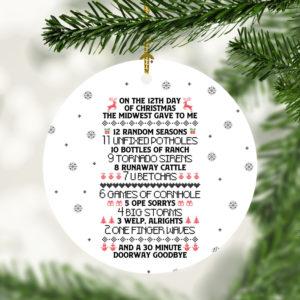 12 Days Of Corona 2020 Quarantine Decorative Christmas Ornament