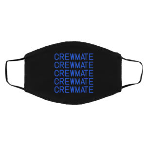 Blue Crewmate Amongus Game Face Mask