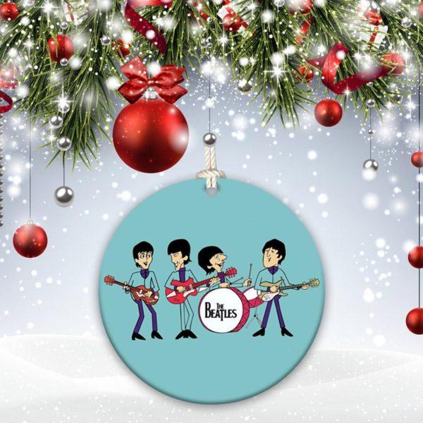 The Beatles John Lennon, Paul McCartney, Ringo Starr, George Harrison Christmas Ornament