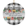 West Virginia Place Your Heart Remains Christmas Ornament