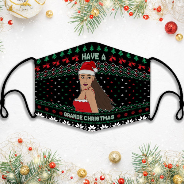 Have A Grande Christmas Ariana Face Mask