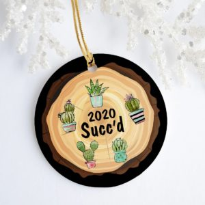 2020 Succ'd Caztus Funny Quarantine Christmas Pandemic Christmas Decorative Ornament