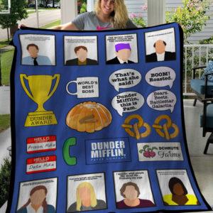 The Office Tv Series Quotes Fleece Blanket, Sherpa Blanket