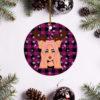 Madi Monroe Merry Christmas Circle Ornament