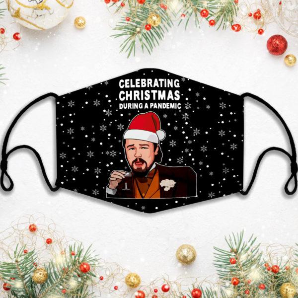 Leonardo Dicaprio Celebrating Christmas Ugly Face Mask