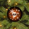 San Francisco Giants Merry Christmas Circle Ornament