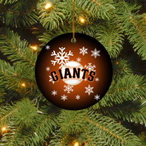 San Francisco Giants Merry Christmas Circle Ornament