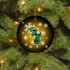 Oakland Athletics Merry Christmas Circle Ornament