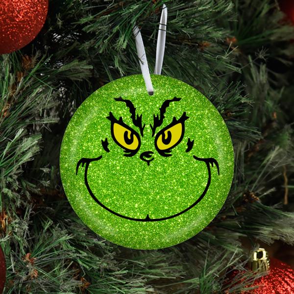 2020 Grinch Face Ornament
