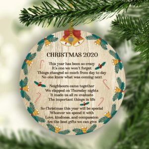 2020 Christmas Lockdown Quarantined Christmas Decorative Ornament
