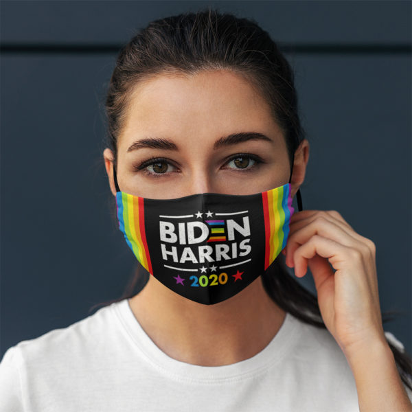 Biden Kamala Harris 2020 Rainbow Face Mask