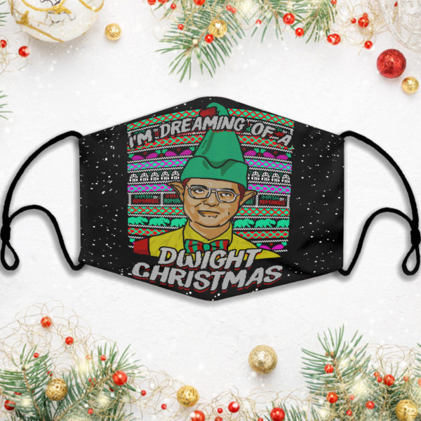 Im Dreaming Of A Dwight Christmas Face Mask