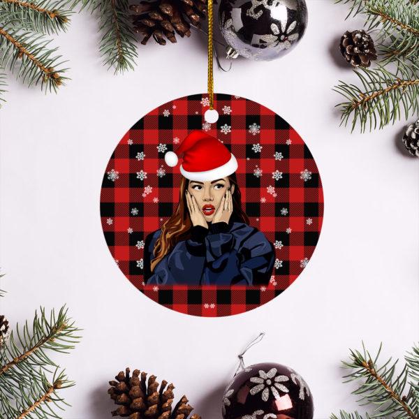 Olivia Rodrigo Merry Christmas Circle Ornament