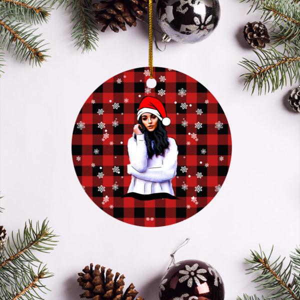 Indiana Massara Merry Christmas Circle Ornament