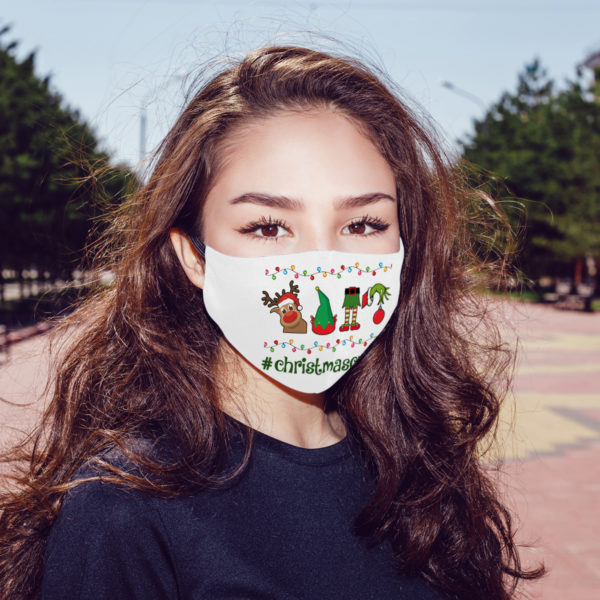 Christmas Cactus What The Fucculent Face Mask