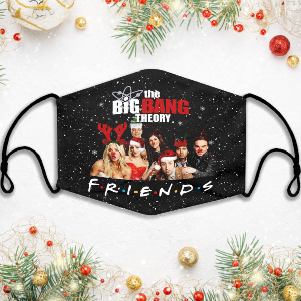 The Big Bang Theory Friends Christmas Face Mask