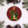 Lady Gaga Merry Christmas Circle Ornament