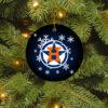 Houston Astros Merry Christmas Circle Ornament