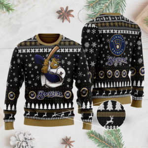 Milwaukee Brewers 3D Ugly Christmas Sweater
