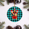 Foo Fighters Merry Christmas Circle Ornament