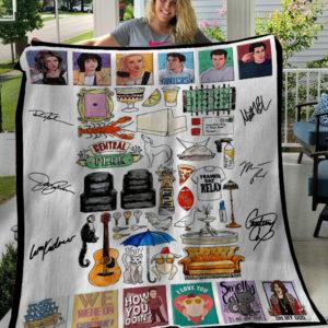 Friends Tv Show American Sitcom Icons Fleece Blanket, Sherpa Blanket