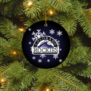 Colorado Rockies Merry Christmas Circle Ornament