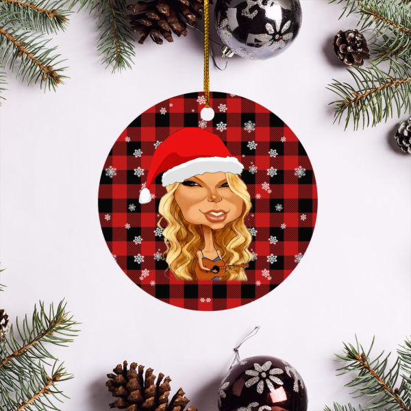Taylor Swift Merry Christmas Circle Ornament