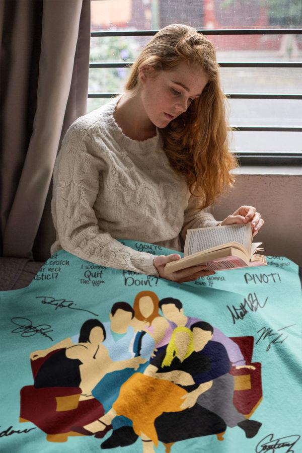 Friends Tv Show American Sitcom Quotes Fleece Blanket, Sherpa Blanket