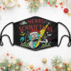 Rick And Morty Merry Schwiftmas Face Mask