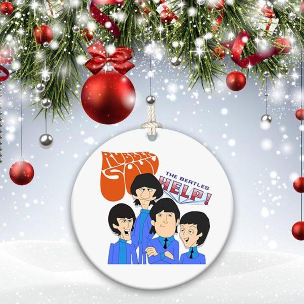 The Beatles John Lennon, Paul McCartney, Ringo Starr, George Harrison Christmas Decorative Ornament