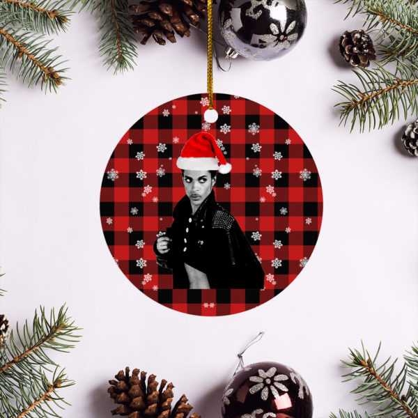 Prince Revolution Merry Christmas Circle Ornament