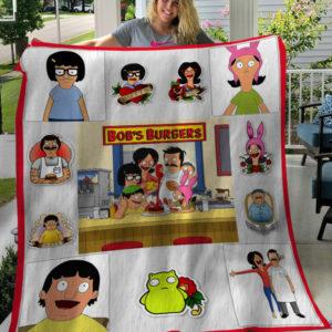 Bob's Burgers Tv Series Characters Fleece Blanket, Sherpa Blanket