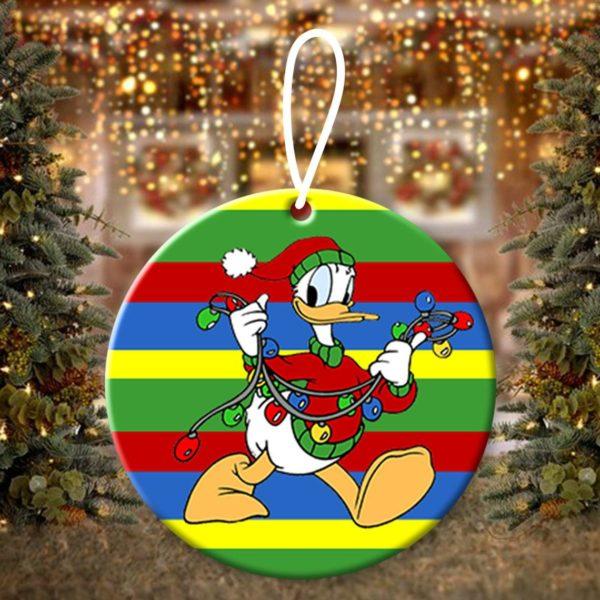 Donald Duck Walt Disney Christmas Ornaments Funny Holiday Gift