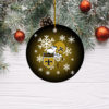 New Orleans Saints Merry Christmas Circle Ornament