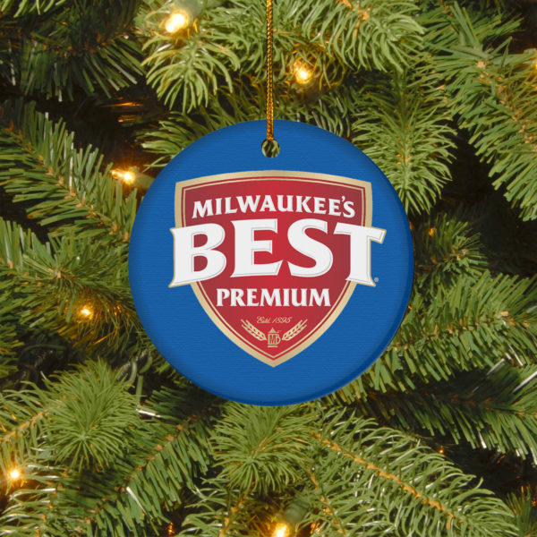 Milwaukee_s Best Premium Merry Christmas Circle Ornament