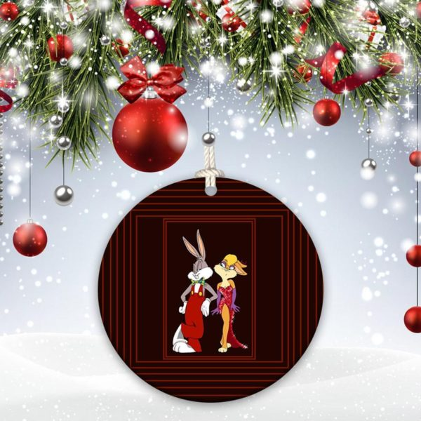 Bugs Bunny Happy Rabbit Leon Schlesinger Christmas Decorative Ornament
