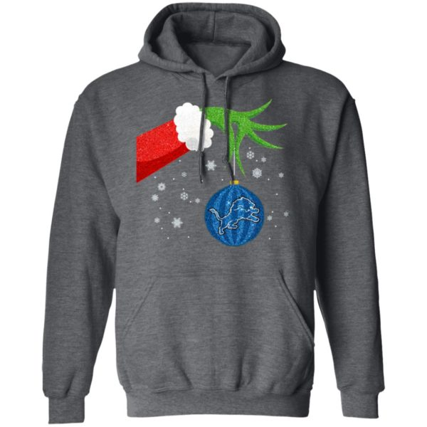 The Grinch Christmas Ornament Detroit Lions Shirt