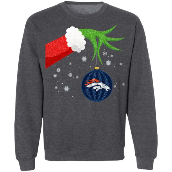 The Grinch Christmas Ornament Denver Broncos Shirt
