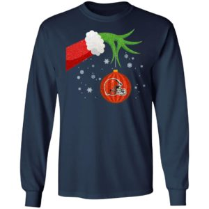The Grinch Christmas Ornament Cleveland Browns Shirt