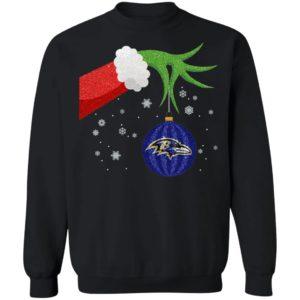 The Grinch Christmas Ornament Baltimore Ravens Shirt