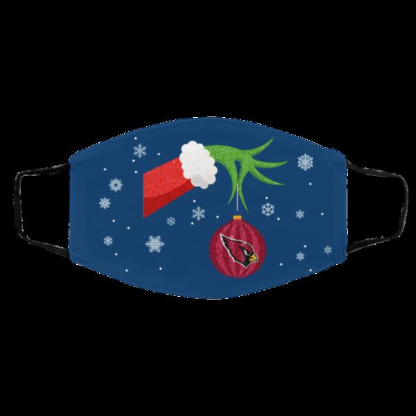 The Grinch Christmas Ornament Arizona Cardinals Face Mask