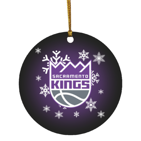 Sacramento Kings Merry Christmas Circle Ornament